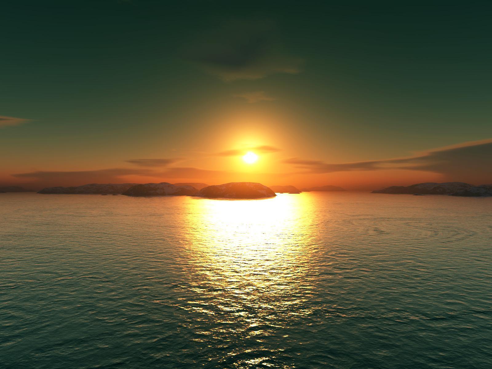 13016 скачать обои Пейзаж, Вода, Закат, Море, Солнце - заставки и картинки бесплатно