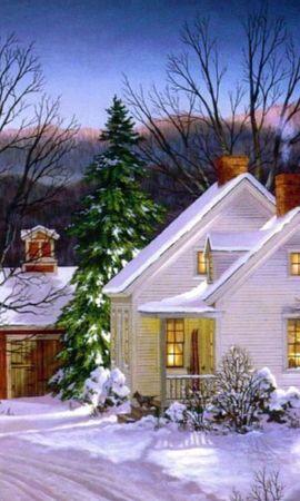 44568 скачать обои Пейзаж, Зима, Дома, Снег - заставки и картинки бесплатно