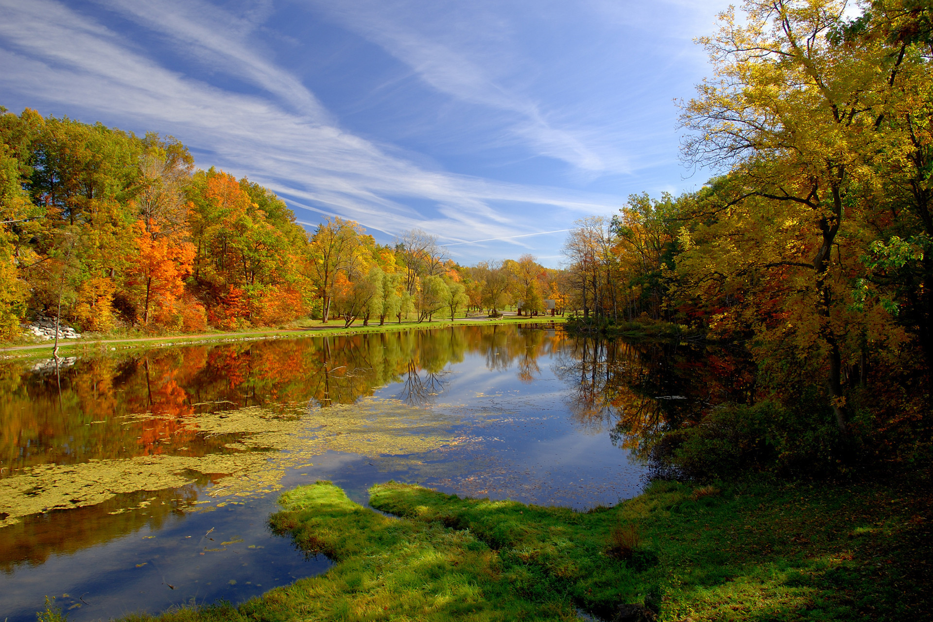 34554 download wallpaper Landscape, Rivers, Autumn screensavers and pictures for free