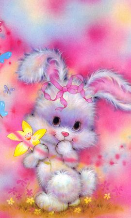 12435 download wallpaper Animals, Rabbits, Pictures screensavers and pictures for free