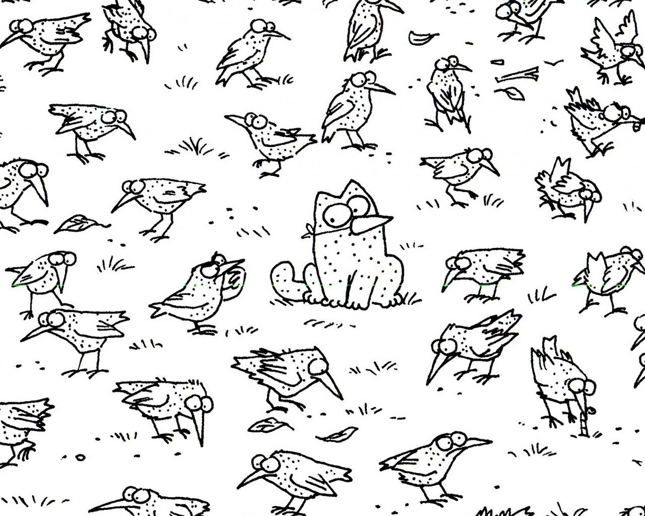 13902 скачать обои Юмор, Рисунки, Кот Саймона (Simon's Cat) - заставки и картинки бесплатно