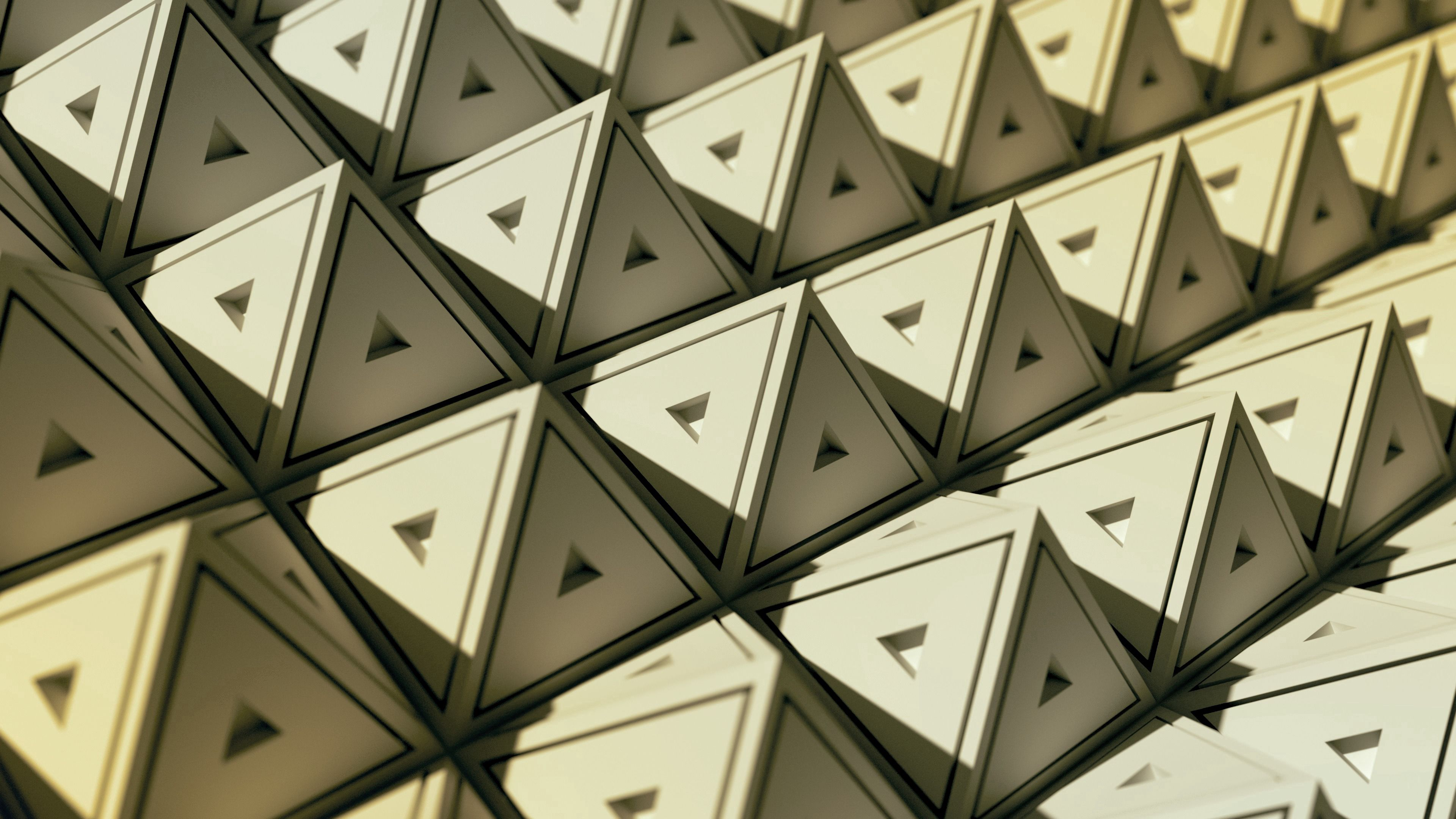 58927 download wallpaper Triangles, Geometry, 3D, Structure, Pyramids screensavers and pictures for free