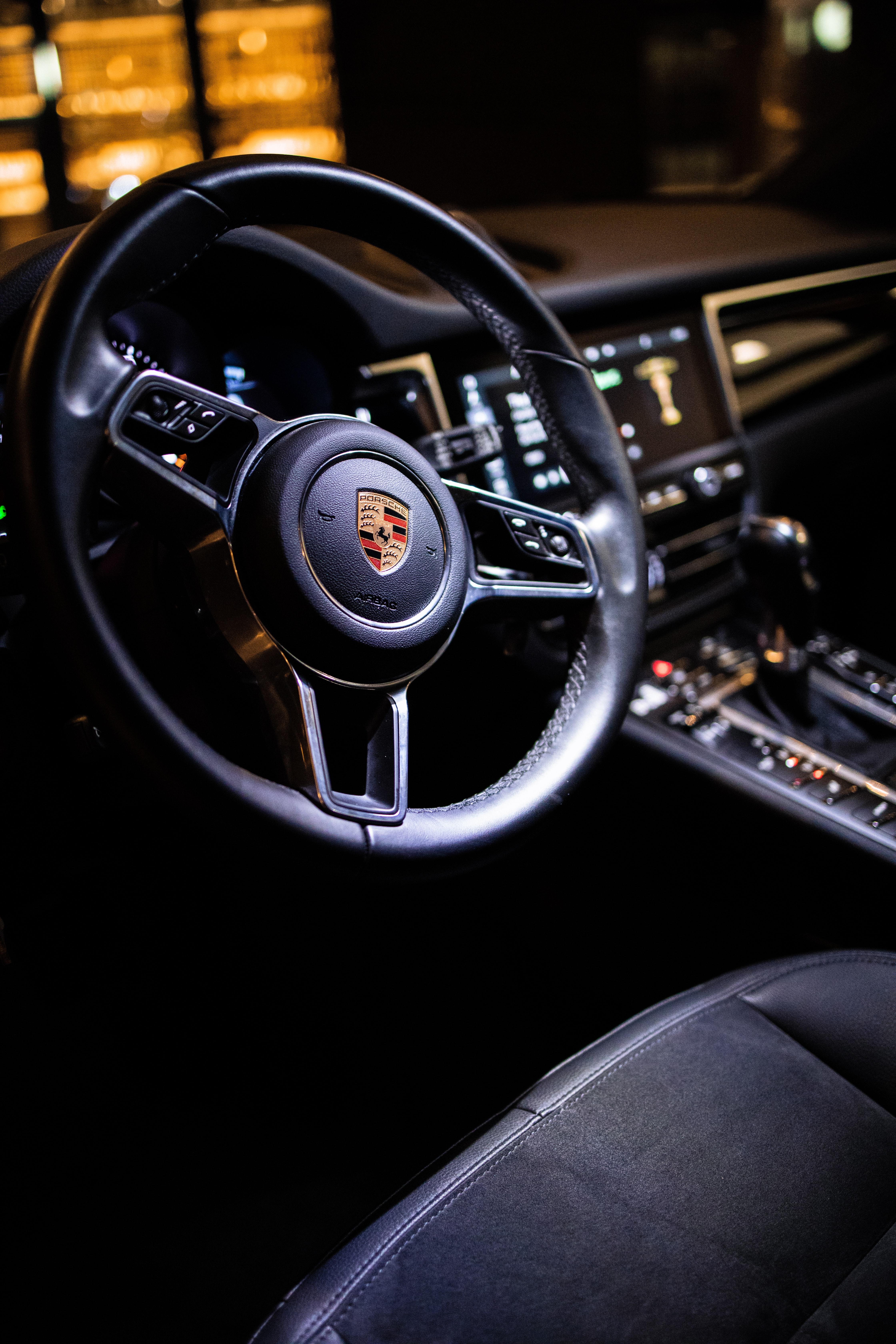 100297 скачать обои Тачки (Cars), Порш (Porsche), Автомобиль, Руль, Салон - заставки и картинки бесплатно