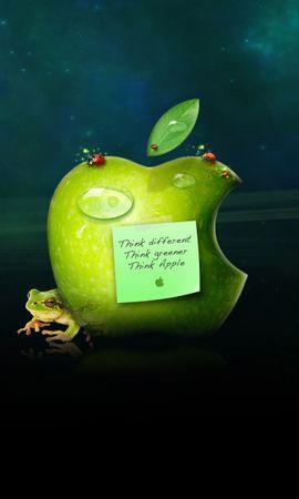 17676 скачать обои Бренды, Фон, Apple - заставки и картинки бесплатно