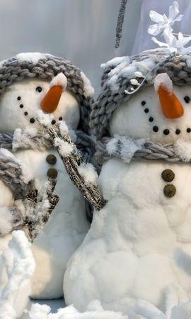 29148 descargar fondo de pantalla Vacaciones, Año Nuevo, Muñeco De Nieve: protectores de pantalla e imágenes gratis