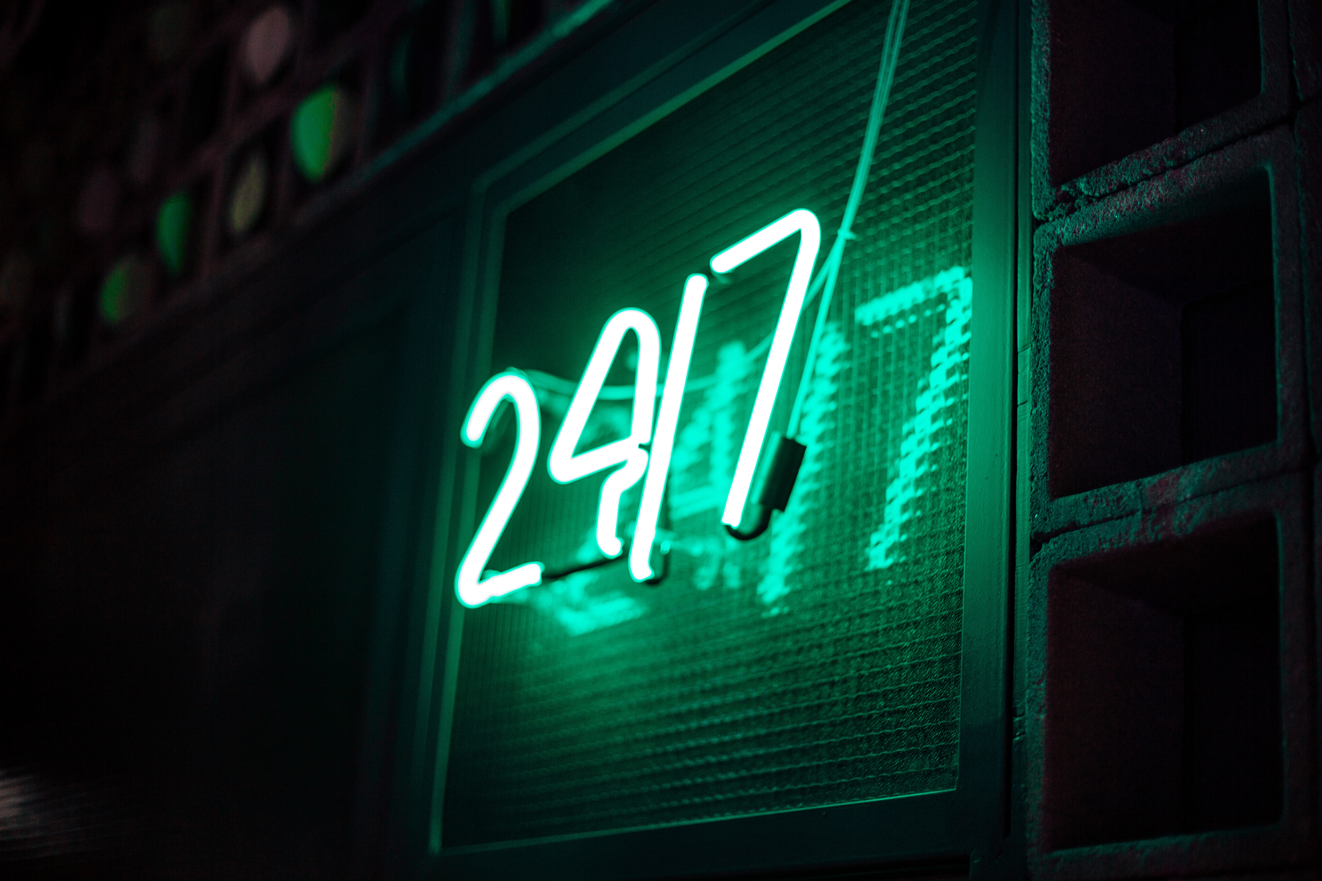70727 download wallpaper Words, Signboard, Sign, Neon, Numbers, Shine, Light screensavers and pictures for free