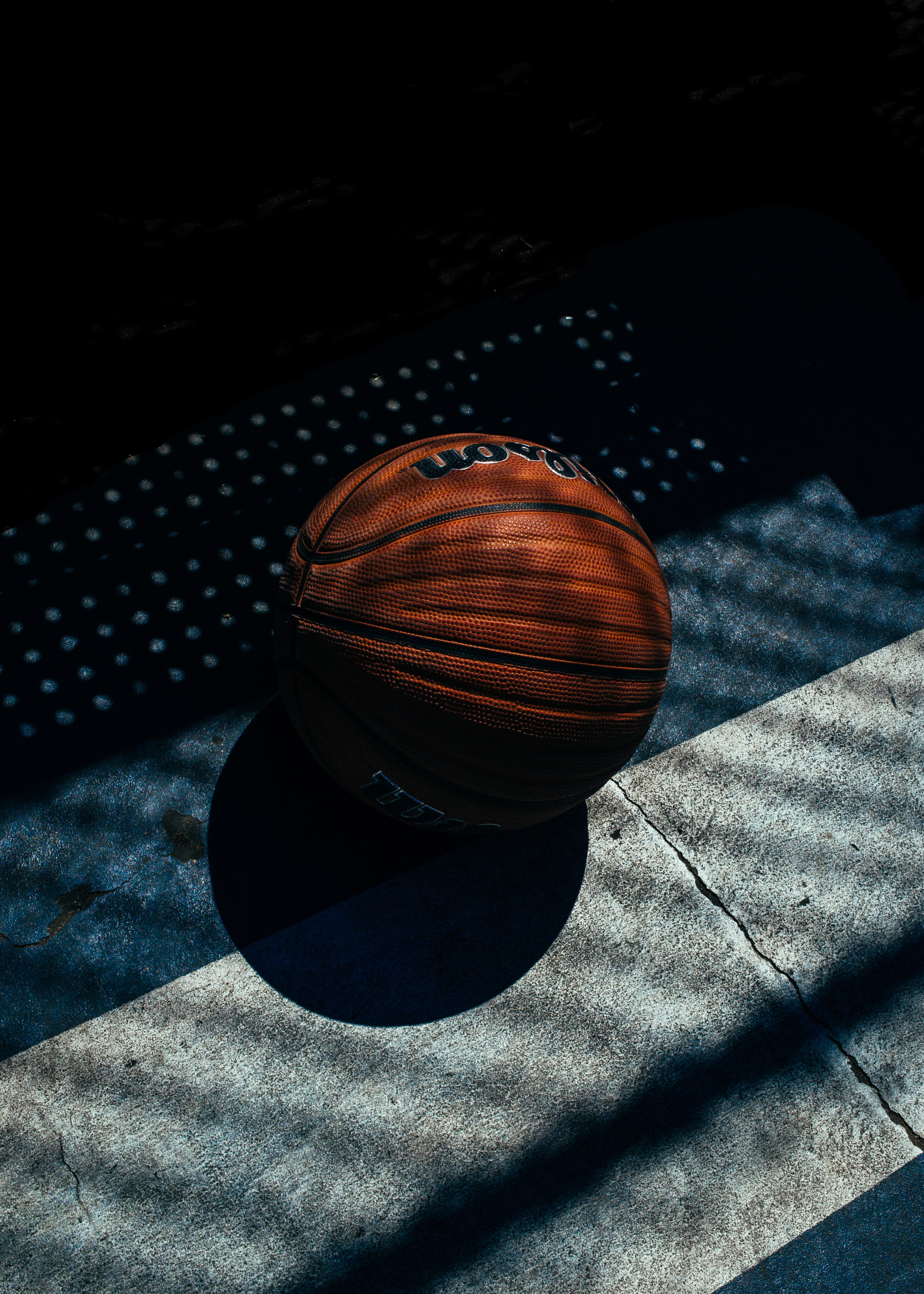 54689 Screensavers and Wallpapers Shadow for phone. Download Sports, Basketball, Shadow, Stripes, Streaks pictures for free
