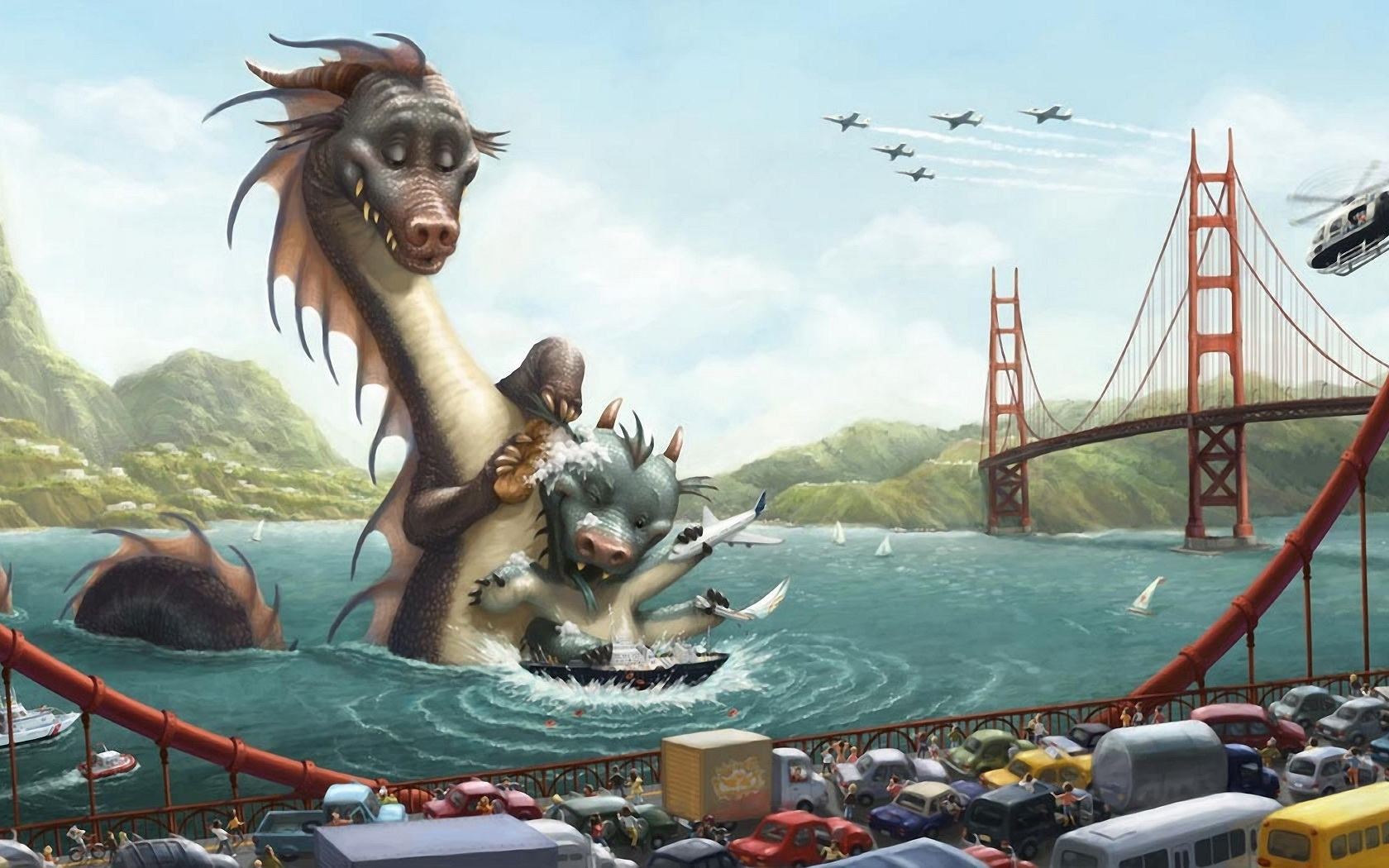 3444 download wallpaper Funny, Dragons, Pictures screensavers and pictures for free