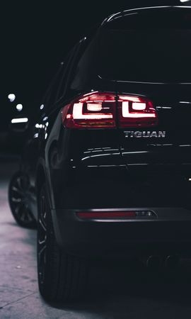 118749 Screensavers and Wallpapers Volkswagen for phone. Download Cars, Volkswagen Tiguan, Volkswagen, Car, Machine, Back View, Rear View, Lanterns, Lights, Backlight, Illumination pictures for free