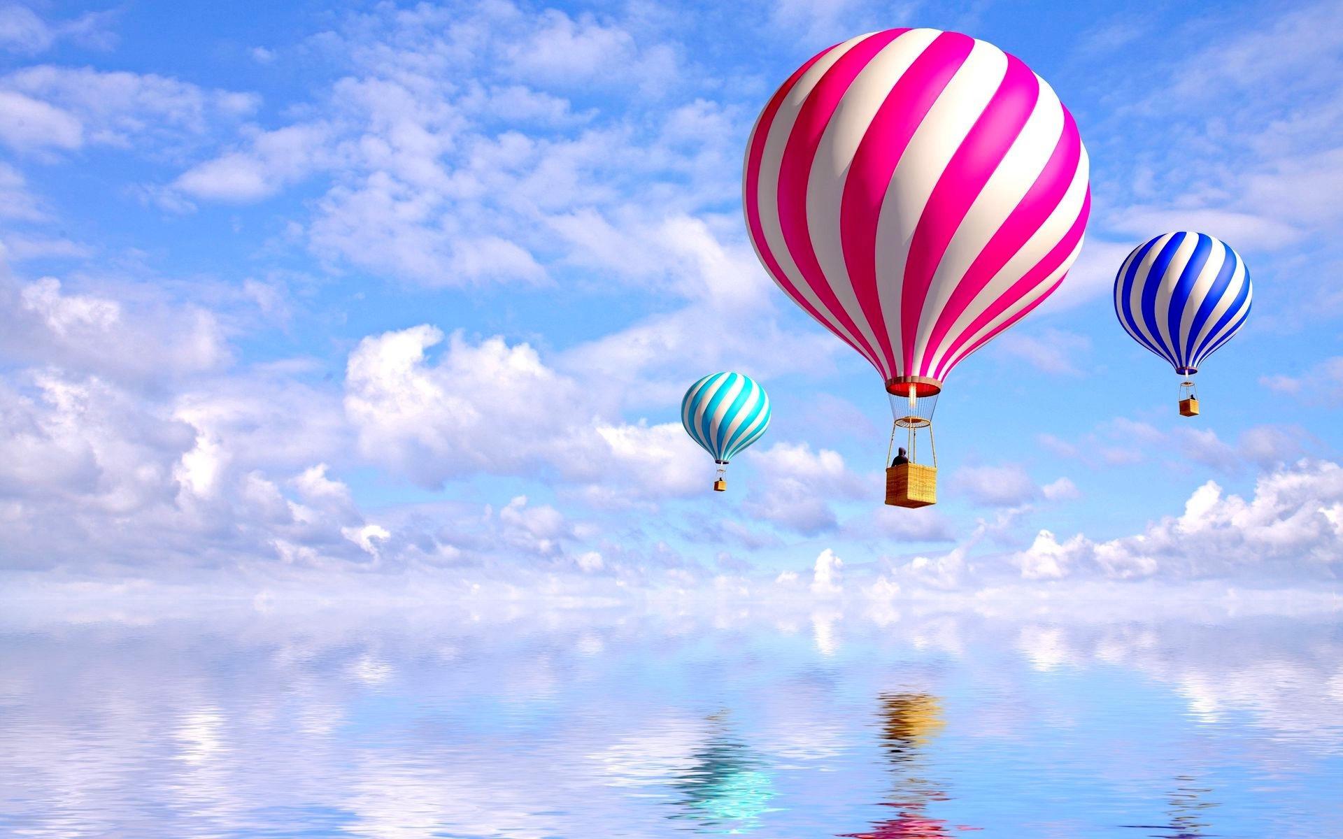 21531 скачать обои Пейзаж, Небо, Облака, Воздушные Шары - заставки и картинки бесплатно
