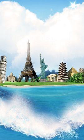18507 скачать обои Города, Фон, Море - заставки и картинки бесплатно
