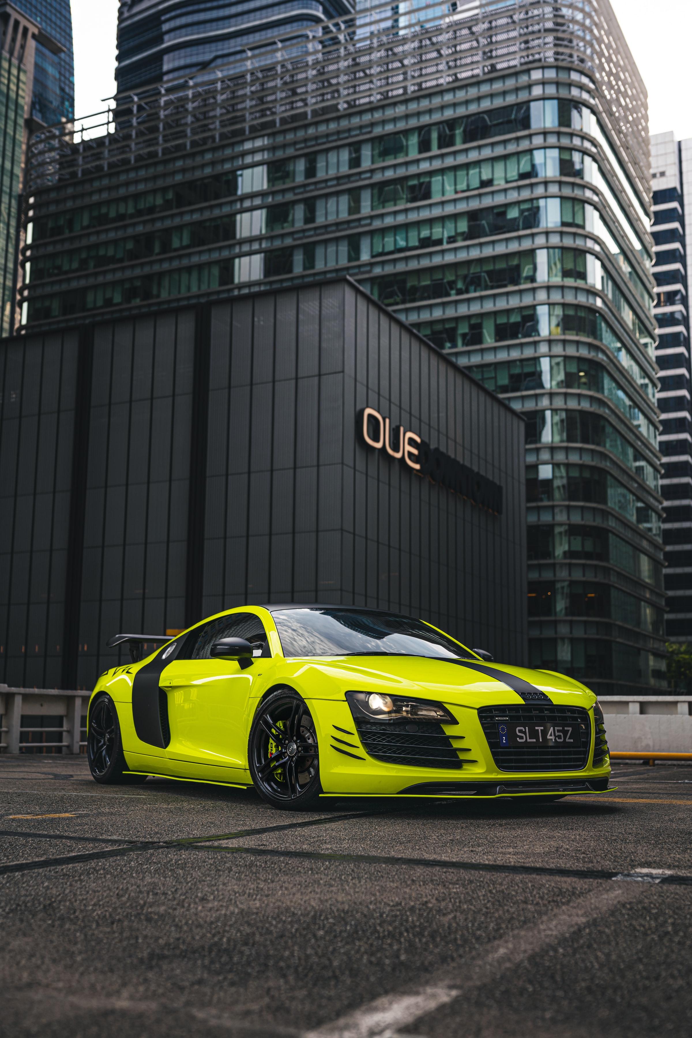 79168 Заставки и Обои Тачки (Cars) на телефон. Скачать Тачки (Cars), Ауди (Audi), Автомобиль, Спорткар, Желтый, Audi R8 картинки бесплатно