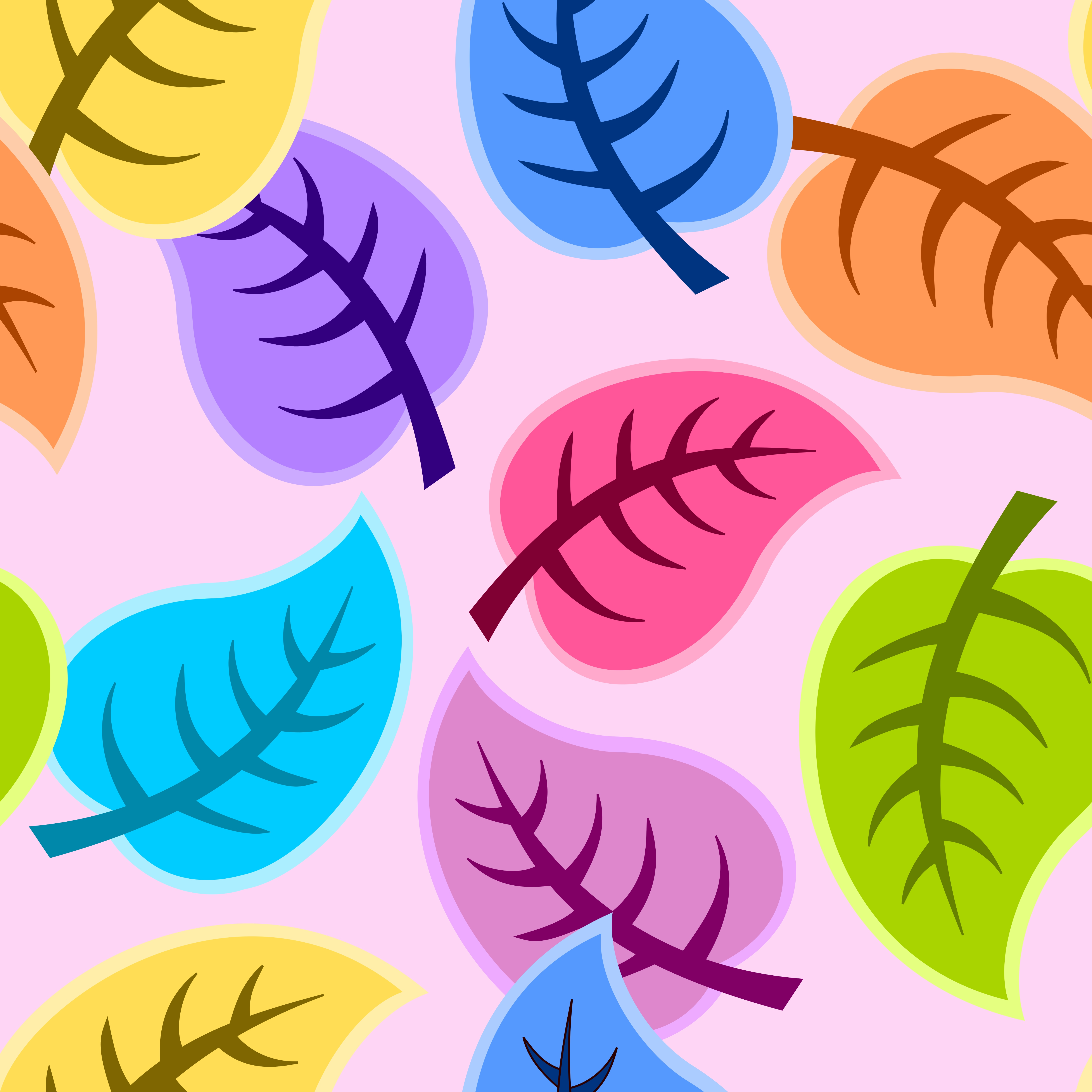 105698 download wallpaper Art, Leaves, Vector, Multicolored, Motley screensavers and pictures for free