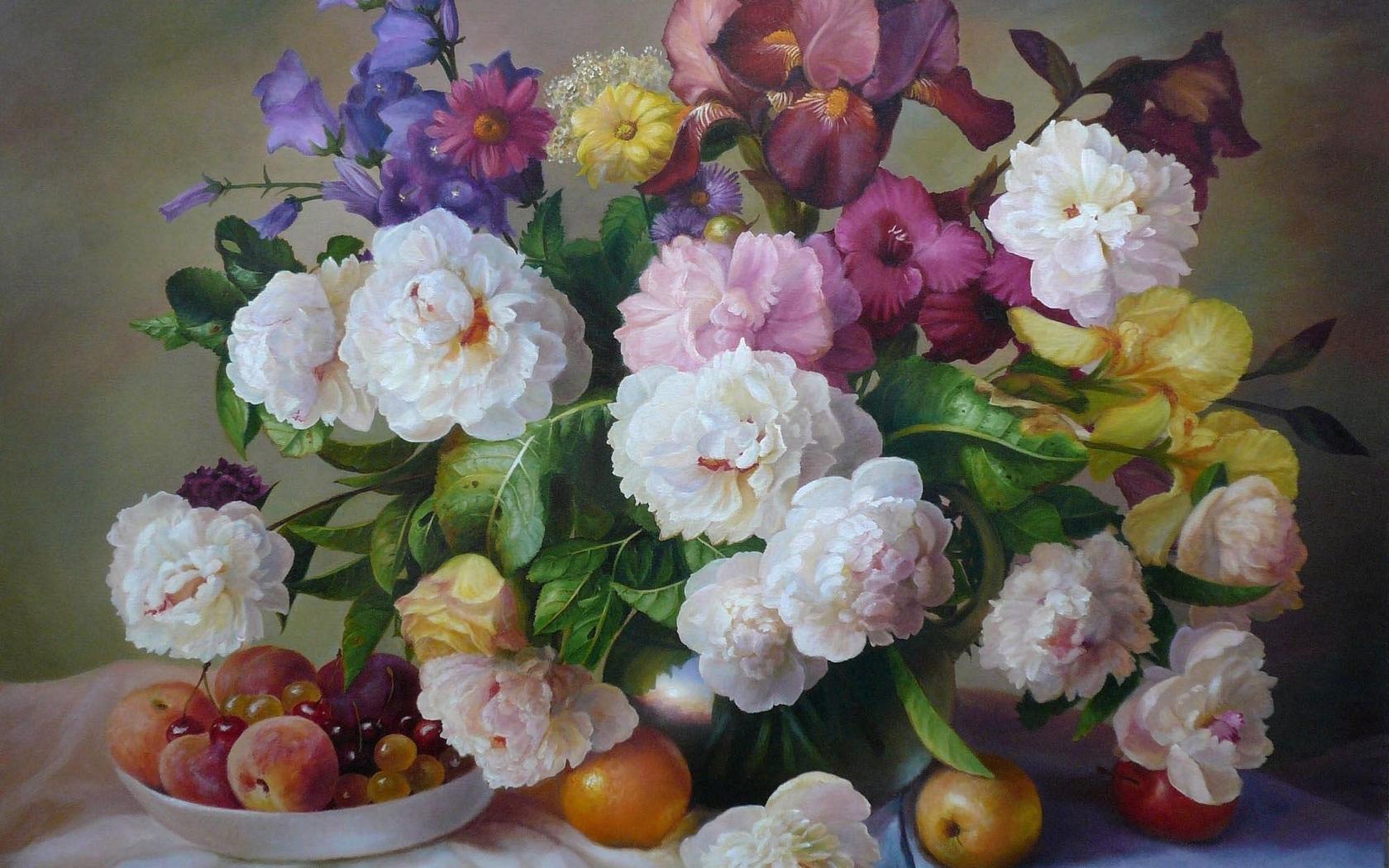 35853 скачать обои Цветы, Букеты, Рисунки - заставки и картинки бесплатно