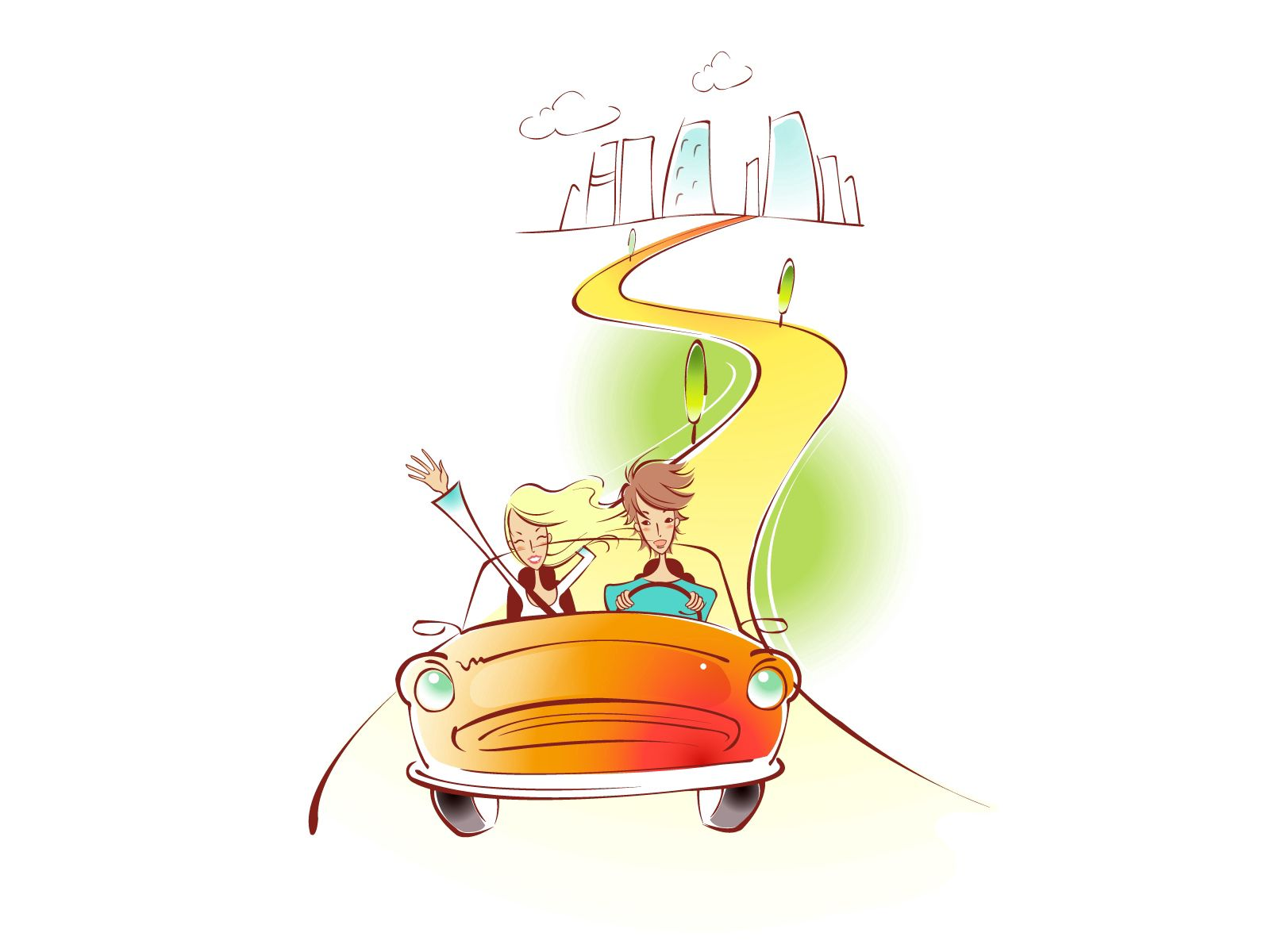 80441 download wallpaper Couple, Pair, Art, Picture, Drawing, Love, Car, Trains, Speed, Greeting screensavers and pictures for free