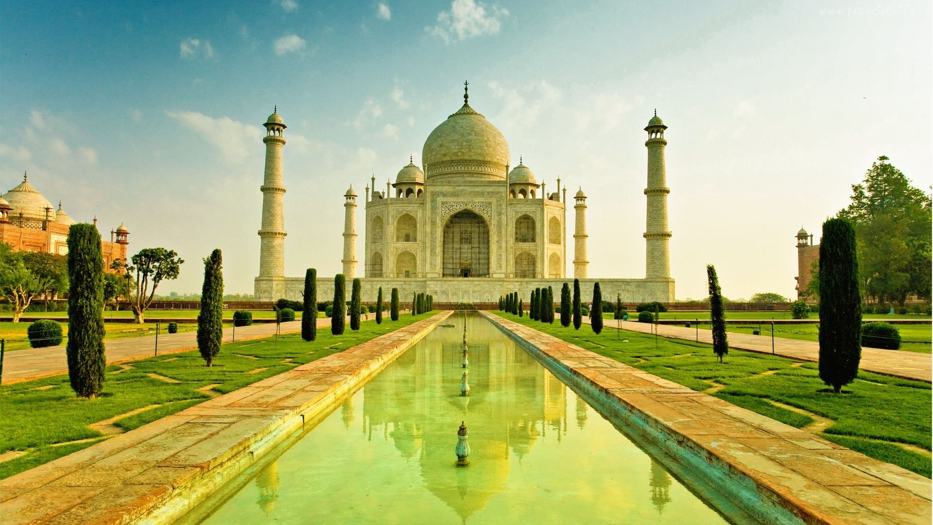 28838 скачать обои Архитектура, Тадж Махал (Taj Mahal) - заставки и картинки бесплатно