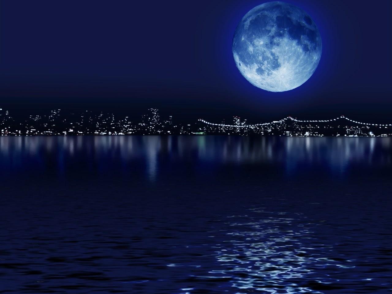 27676 скачать обои Пейзаж, Море, Ночь, Луна - заставки и картинки бесплатно