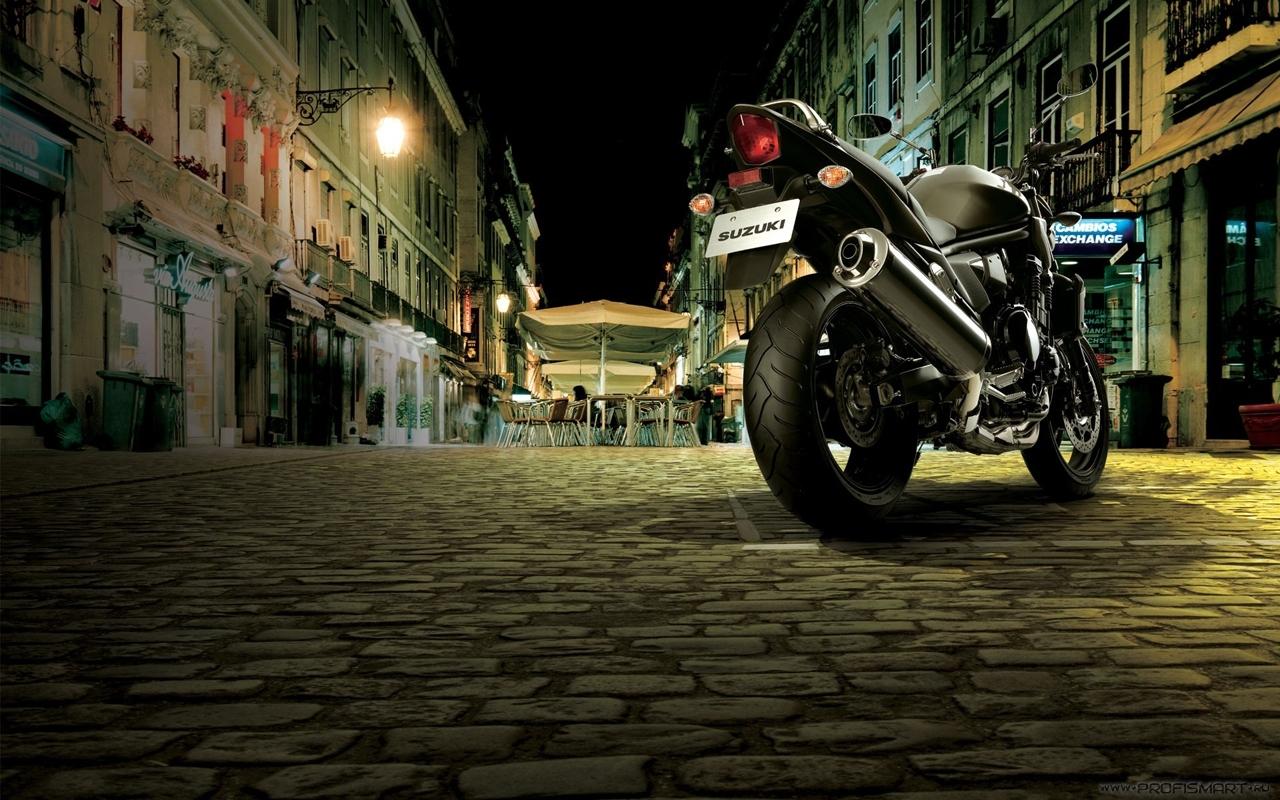 22327 скачать обои Транспорт, Пейзаж, Улицы, Ночь, Мотоциклы - заставки и картинки бесплатно