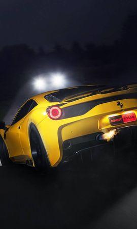 74537 télécharger le fond d'écran Voitures, Ferrari, 458 Spéciale, 458 Speciale, Phares, Lumières, Vue Arrière - économiseurs d'écran et images gratuitement