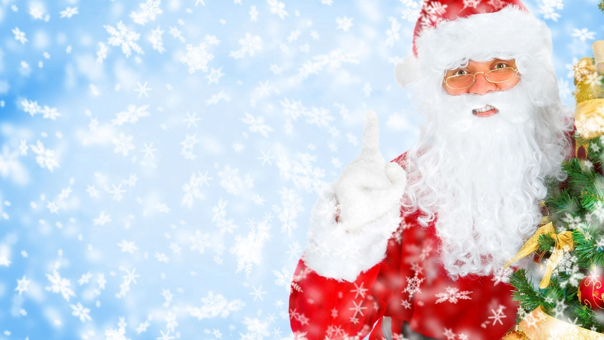 132178 Hintergrundbild herunterladen Feiertage, Neujahr, Väterchen Frost, Weihnachtsmann, Neues Jahr, Urlaub - Bildschirmschoner und Bilder kostenlos
