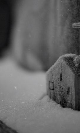 22103 скачать обои Зима, Дома, Фон, Снег - заставки и картинки бесплатно