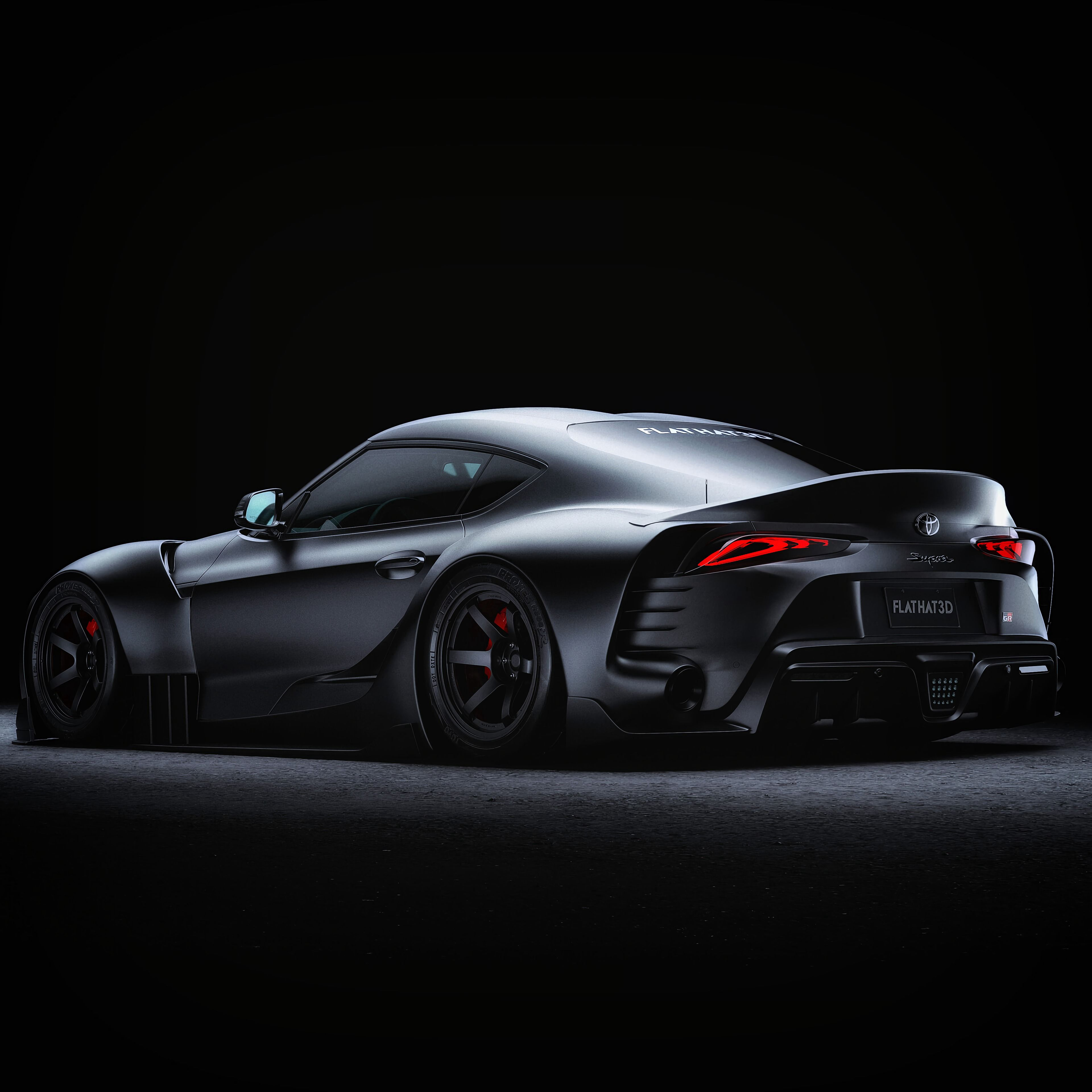 138568 download wallpaper Cars, Toyota Supra, Toyota, Sports Car, Sports, Grey, Side View, Night, Dark screensavers and pictures for free