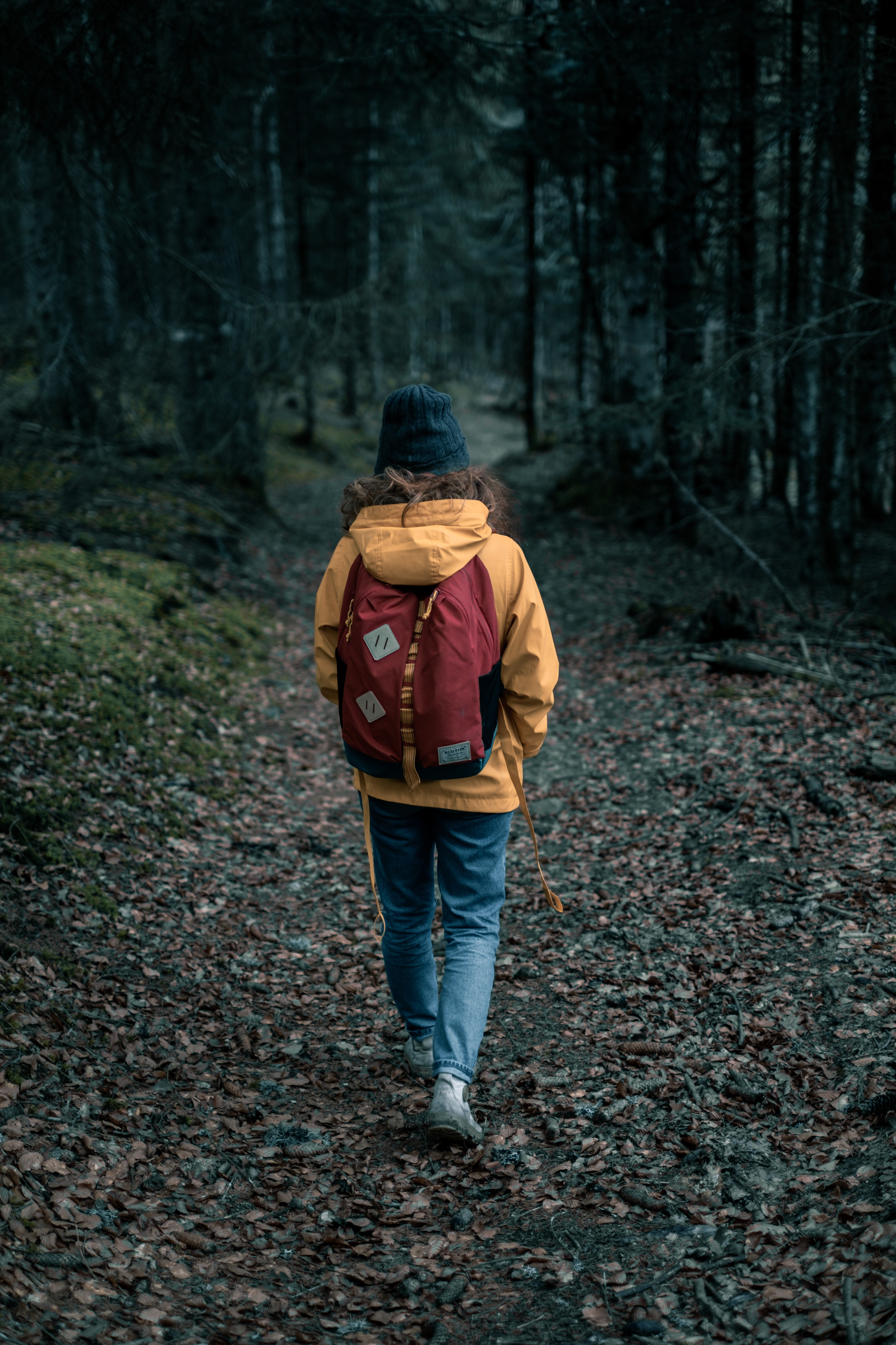 156746 download wallpaper Miscellanea, Miscellaneous, Human, Person, Forest, Loneliness, Nature, Stroll screensavers and pictures for free