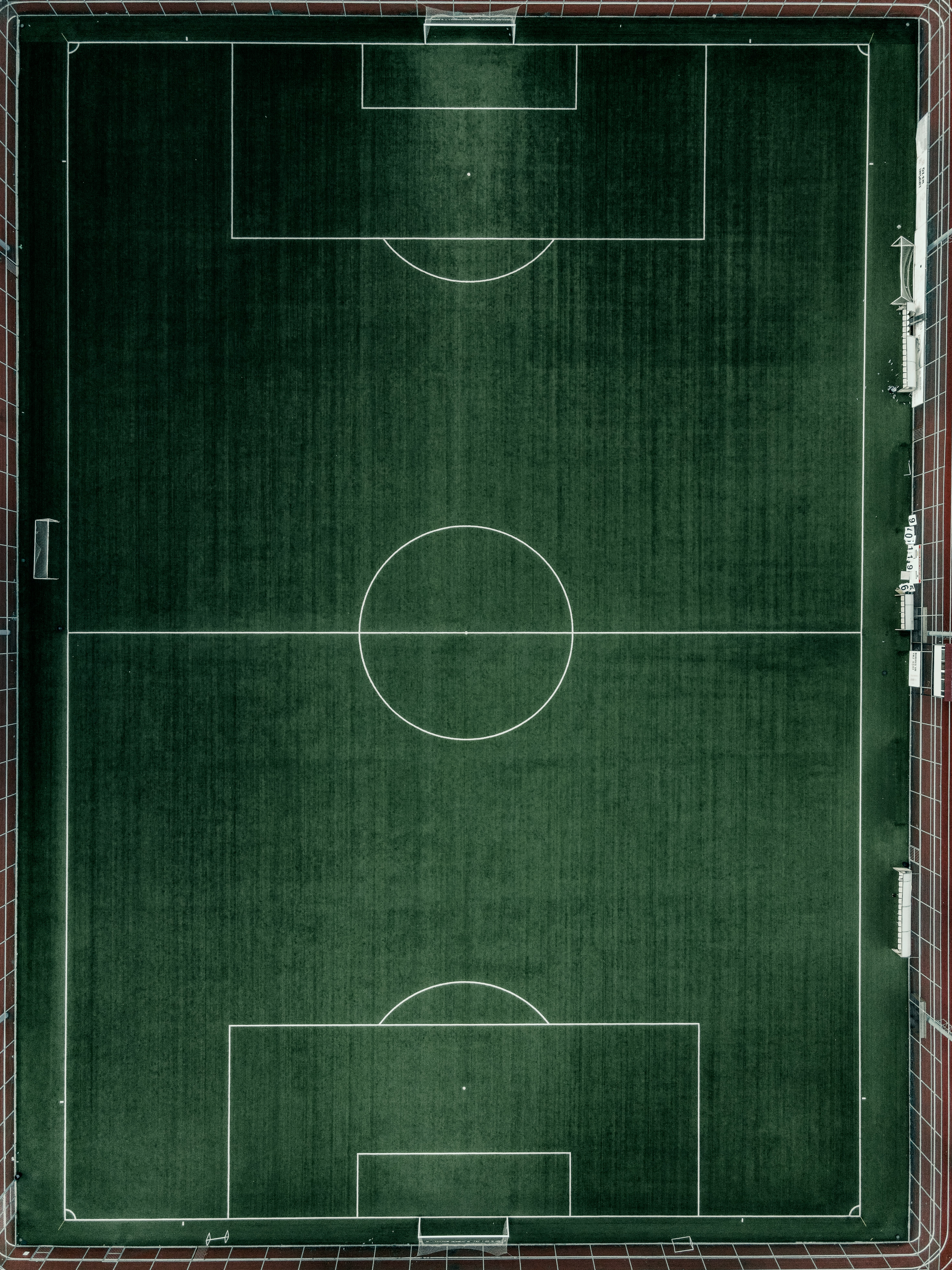 97790 download wallpaper Sports, Football Field, View From Above, Football, Lawn screensavers and pictures for free