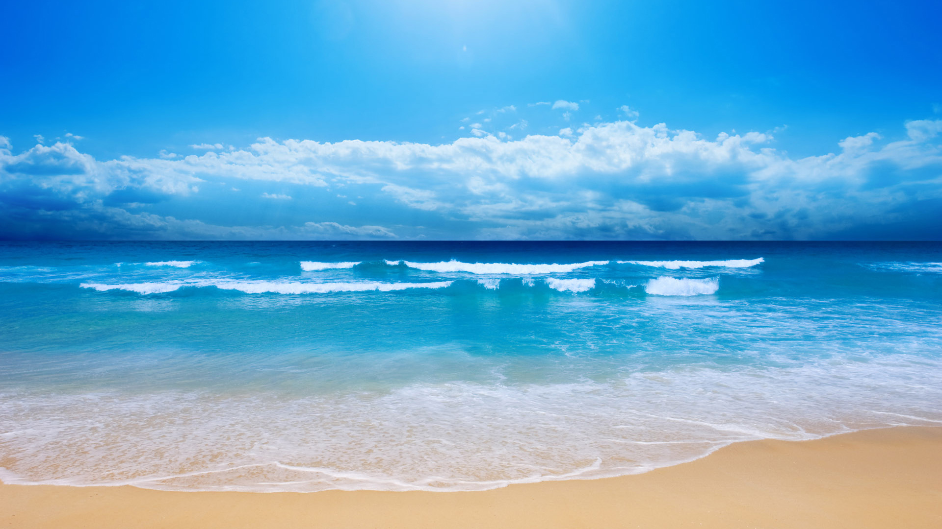 20562 download wallpaper Landscape, Sea, Clouds, Waves, Beach screensavers and pictures for free