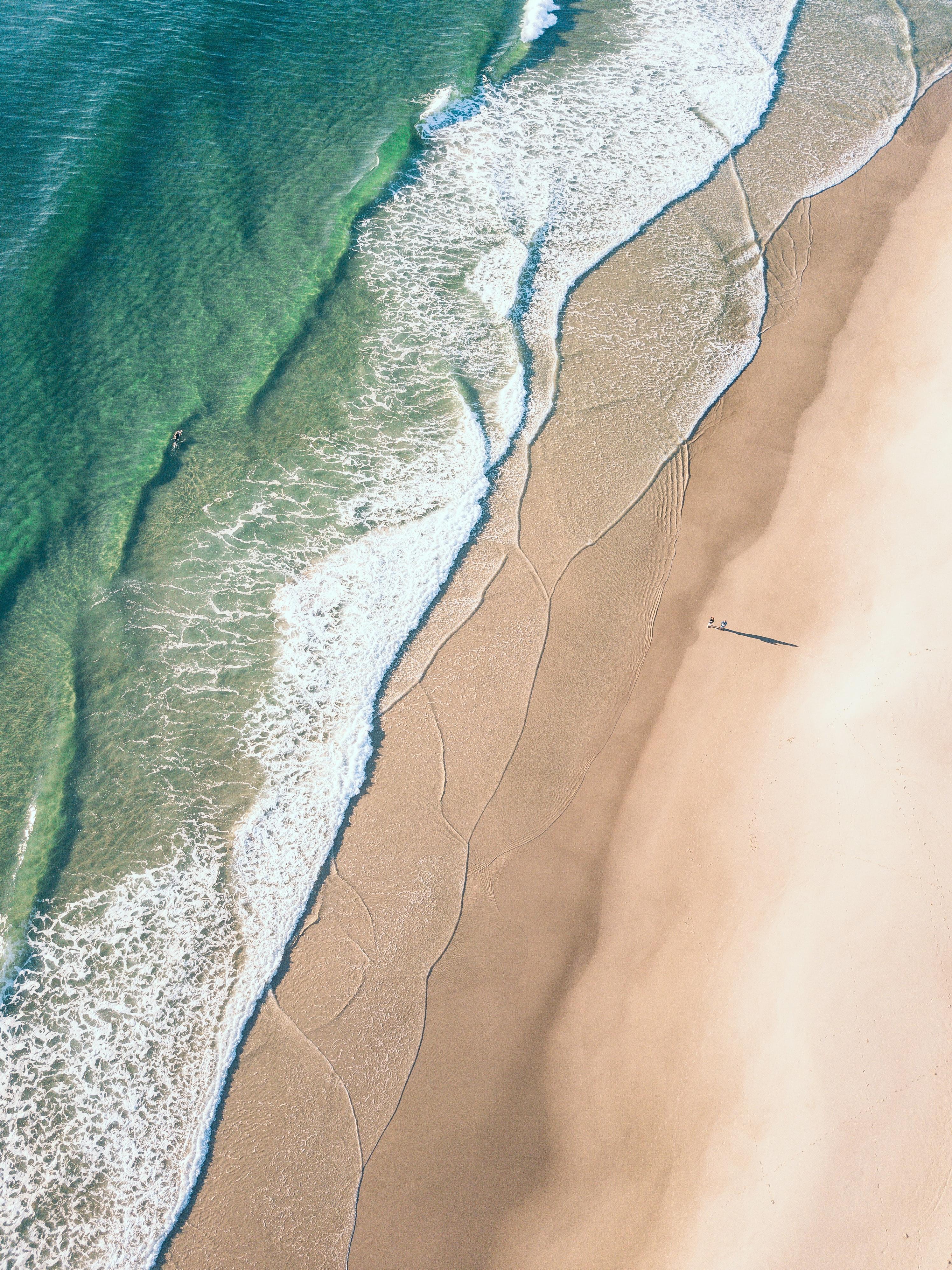 126577 Protetores de tela e papéis de parede Praia em seu telefone. Baixe Natureza, Água, Praia, Areia, Vista De Cima, Ver De Cima, Costa fotos gratuitamente
