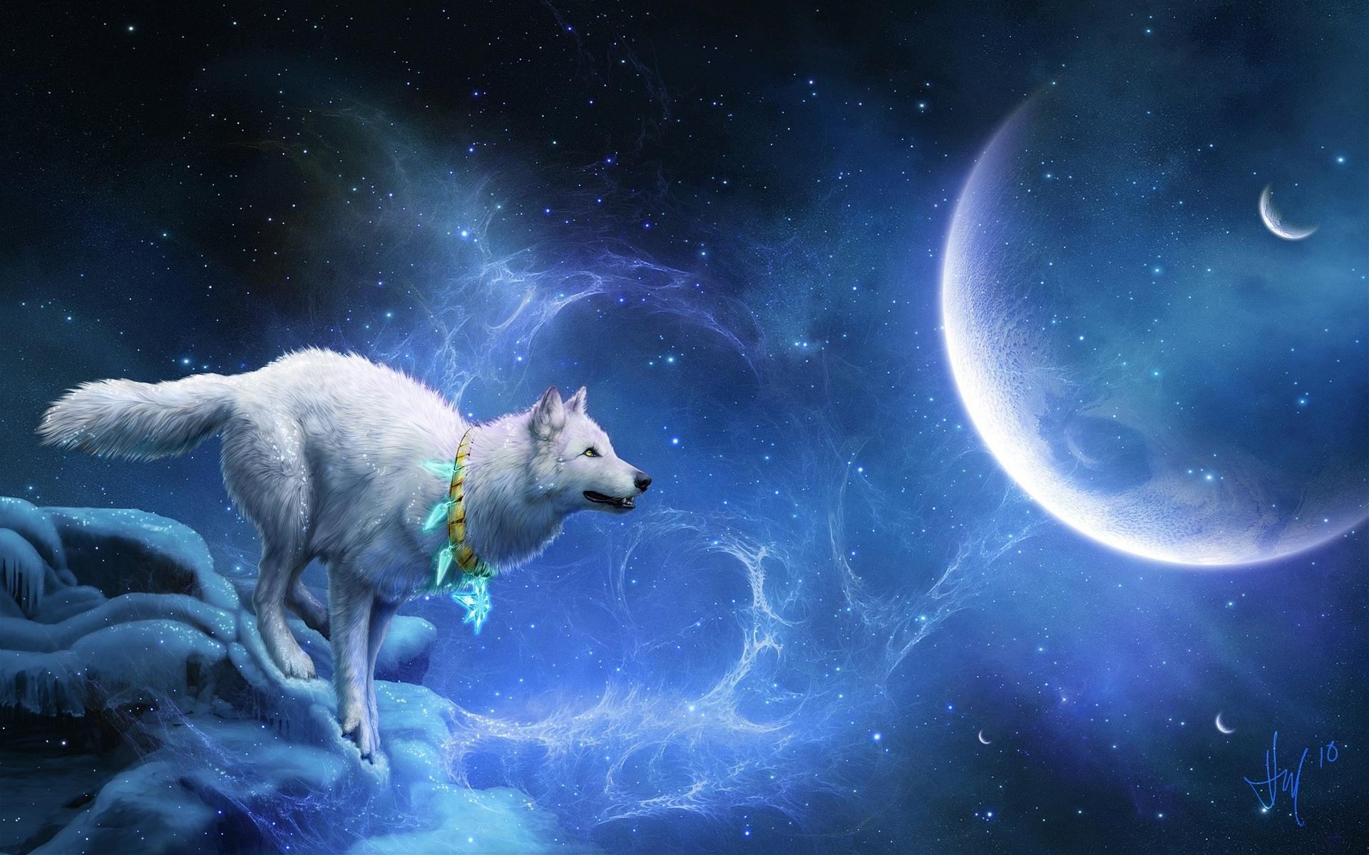 27917 скачать обои Волки, Фэнтези, Животные - заставки и картинки бесплатно