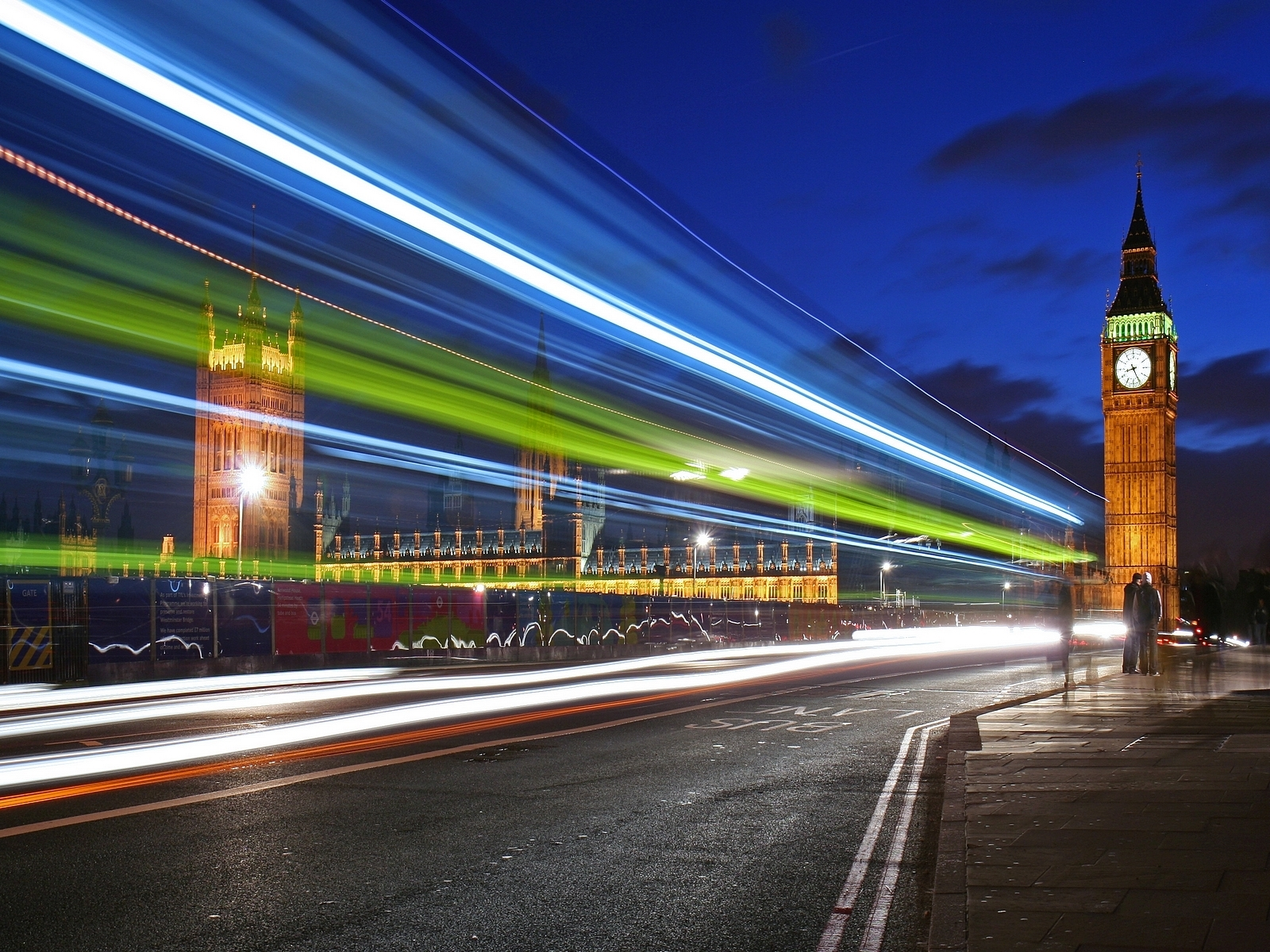 8057 download wallpaper Landscape, Cities, Roads, Night, Big Ben screensavers and pictures for free