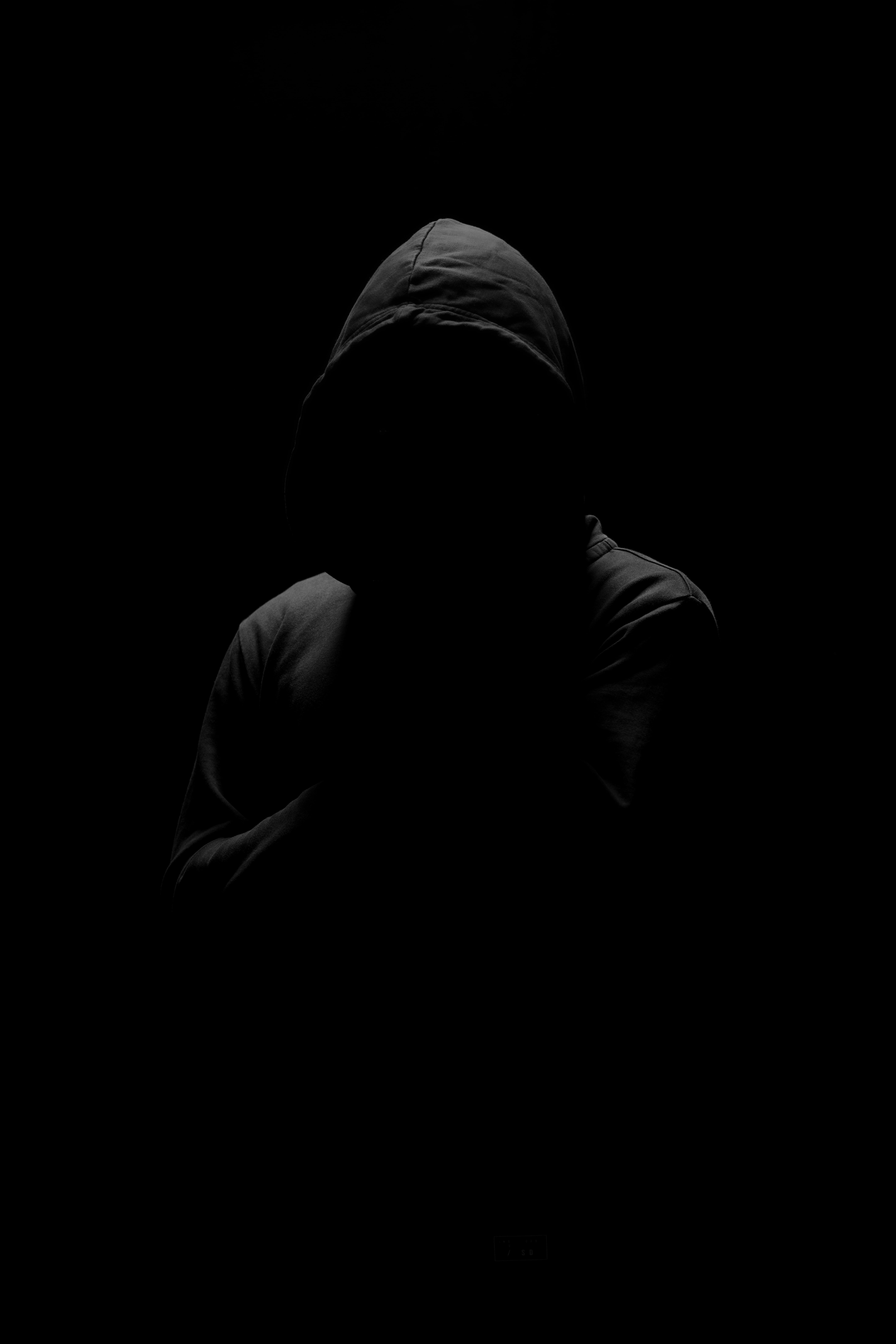 Скачать бесплатно картинку 81383: Аноним, Темный, Черный, Человек, Капюшон обои на телефон