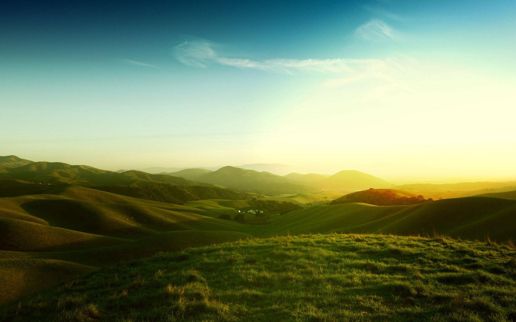 128046 скачать обои Природа, Калифорния, Луга, Поля, Закат, Вечер, Солнце - заставки и картинки бесплатно