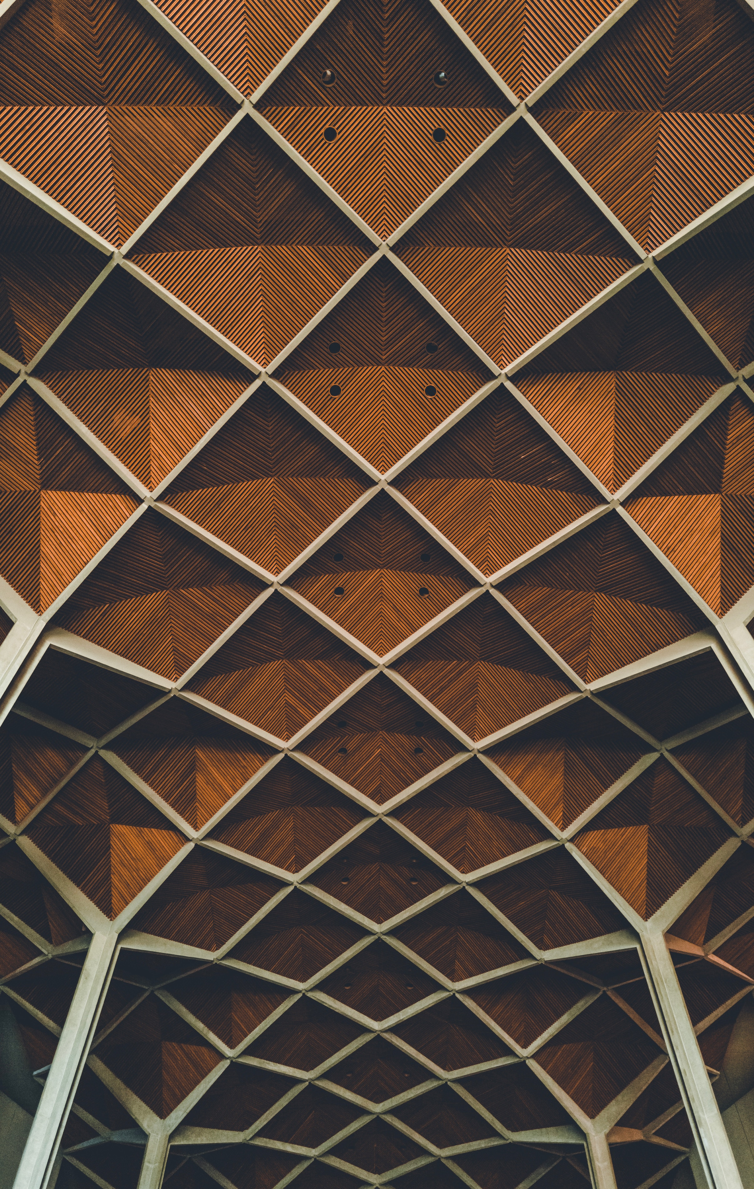 91744 download wallpaper Minimalism, Architecture, Interior, Lines, Grid, Design, Symmetry screensavers and pictures for free