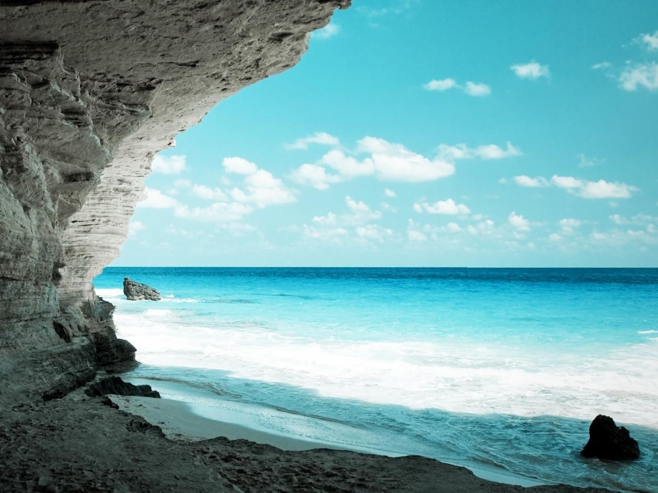 24617 скачать обои Пейзаж, Горы, Море, Волны - заставки и картинки бесплатно