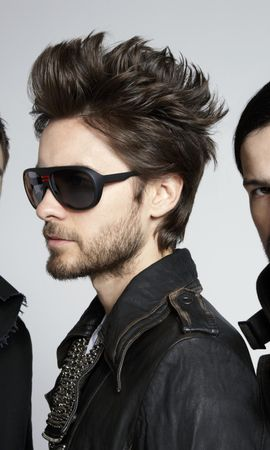 32869 download wallpaper Music, People, Artists, Men, 30 Seconds To Mars screensavers and pictures for free