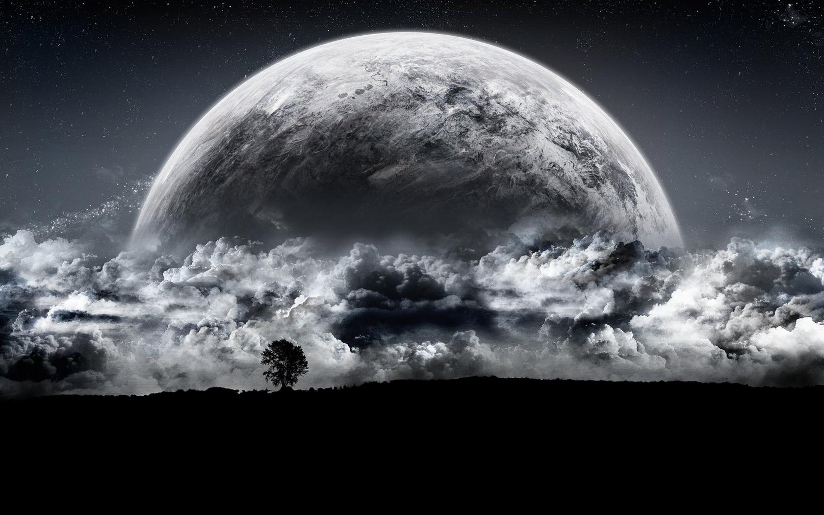 41584 免費下載壁紙 景观, 天空, 月球 屏保和圖片