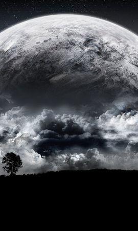 41584 télécharger le fond d'écran Paysage, Sky, Lune - économiseurs d'écran et images gratuitement