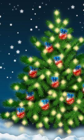19533 скачать обои Праздники, Зима, Фон, Новый Год (New Year), Снег, Елки, Рождество (Christmas, Xmas) - заставки и картинки бесплатно