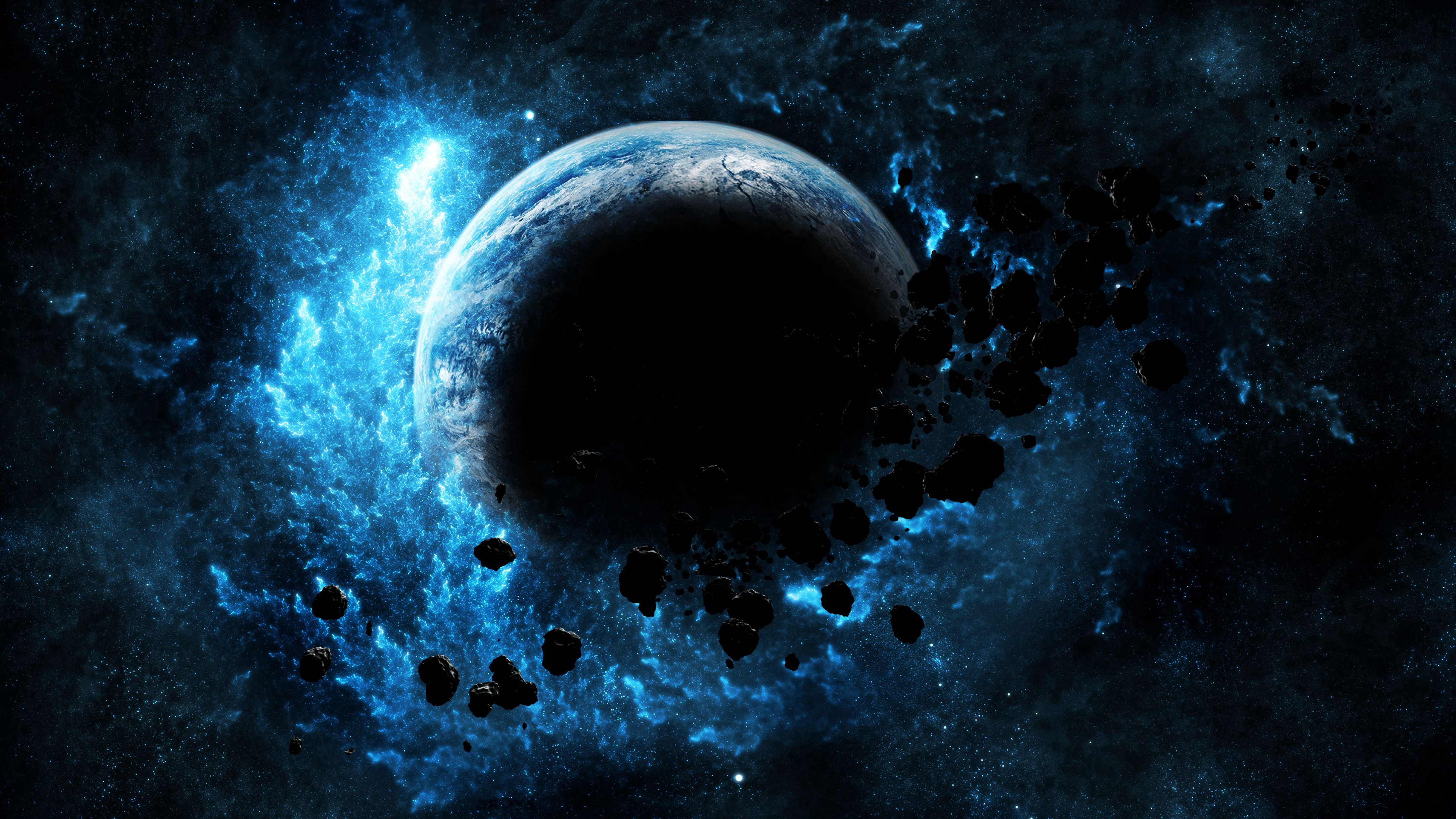 97956 Screensavers and Wallpapers Bright for phone. Download Universe, Bright, Flash, Glow, Planet, Asteroids pictures for free