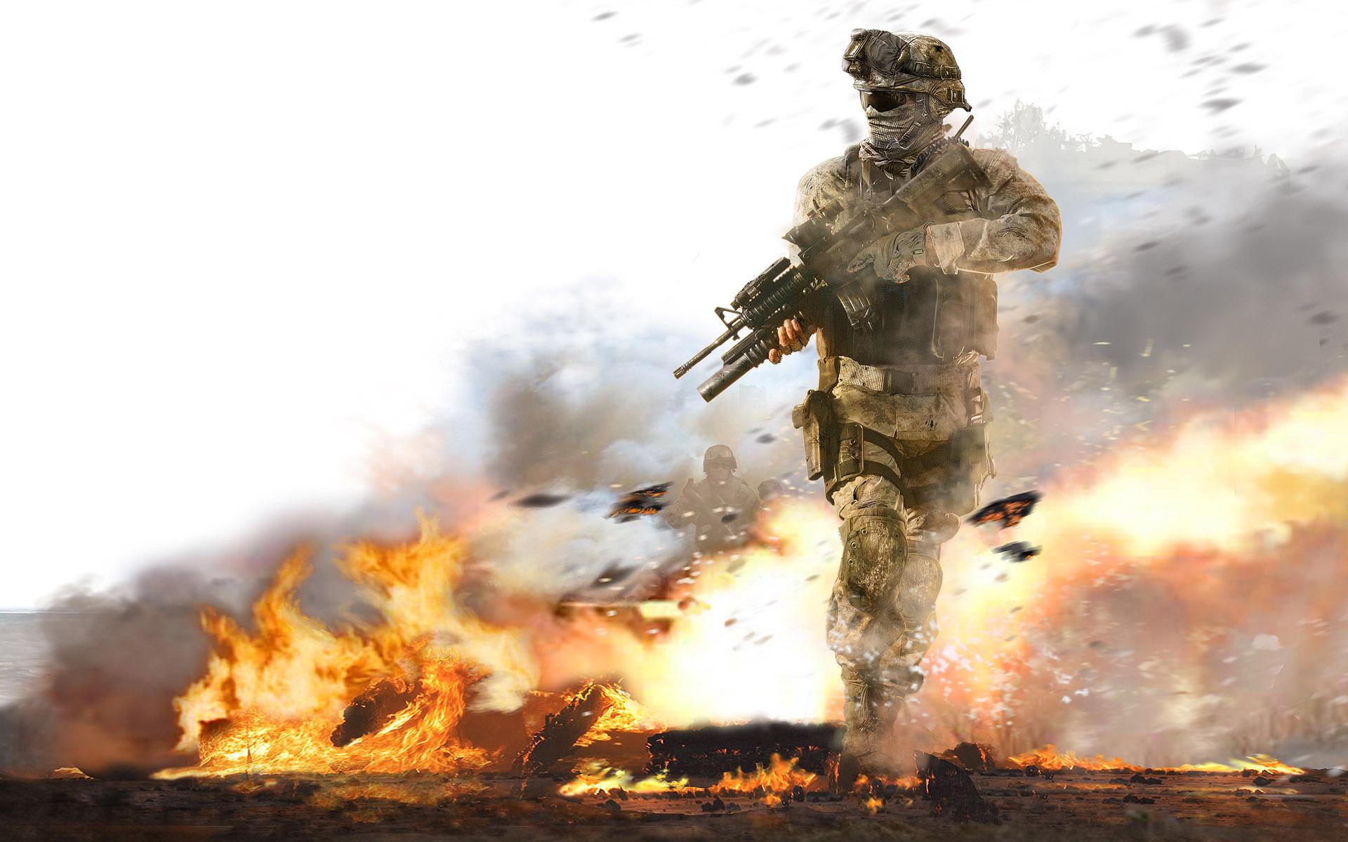 13070 Hintergrundbild herunterladen Menschen, Feuer, War, Soldiers - Bildschirmschoner und Bilder kostenlos
