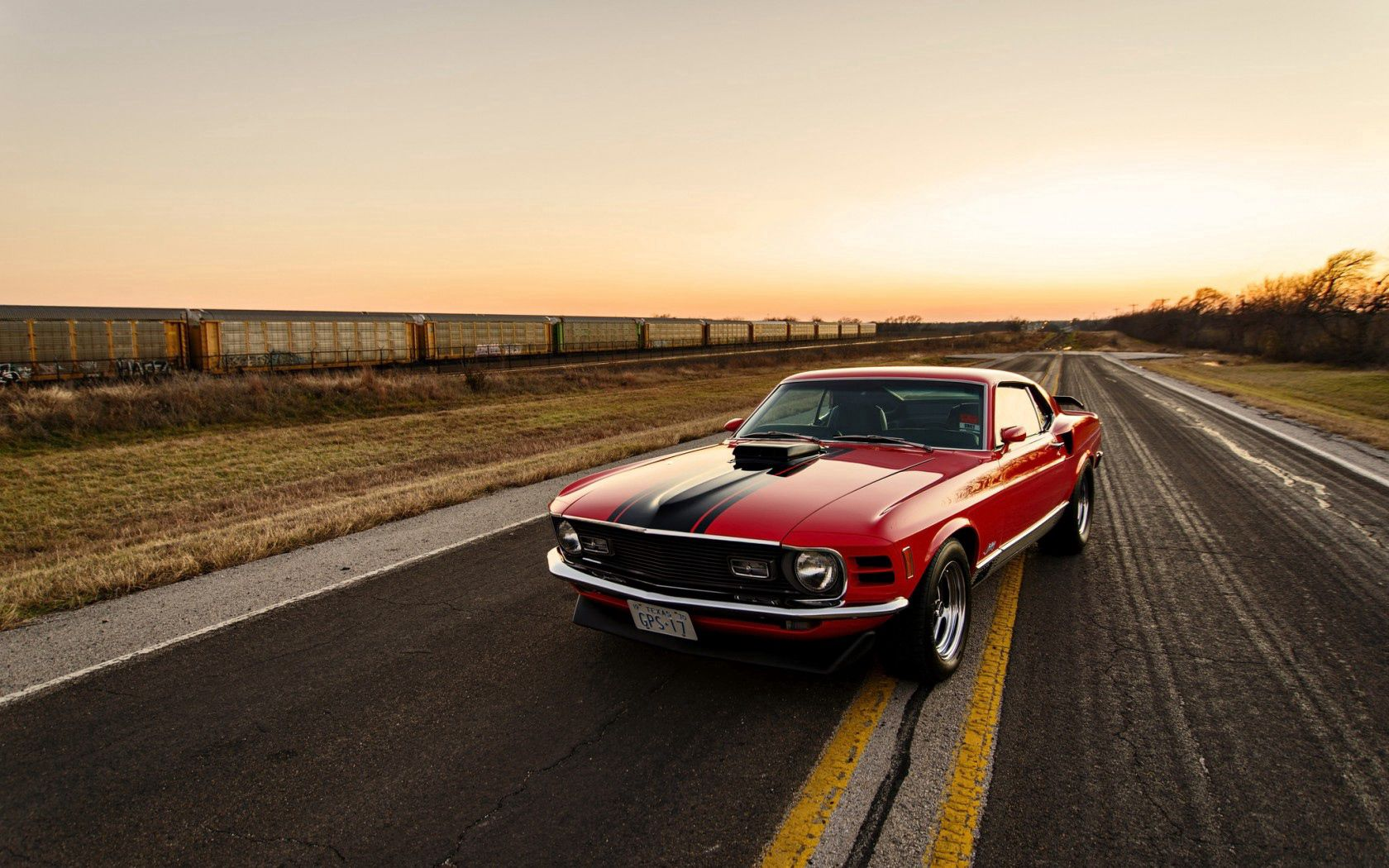 120558 download wallpaper Ford, Mustang, Cars, Side View, 1970 screensavers and pictures for free