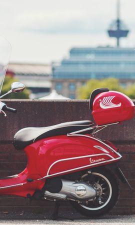82730 скачать обои Мотоциклы, Скутер, Мотороллер, Красный, Транспорт - заставки и картинки бесплатно