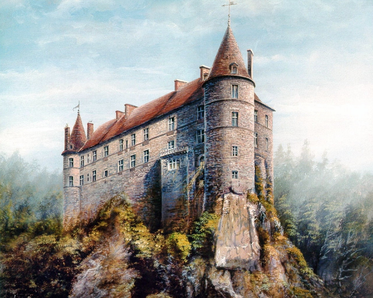 4485 download wallpaper Landscape, Art, Architecture, Castles, Pictures screensavers and pictures for free