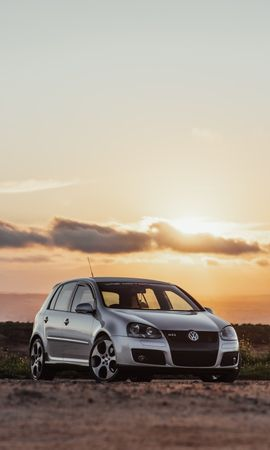 106265 Screensavers and Wallpapers Volkswagen for phone. Download Cars, Volkswagen Golf Mk5, Volkswagen, Car, Machine, Front View, Grey pictures for free