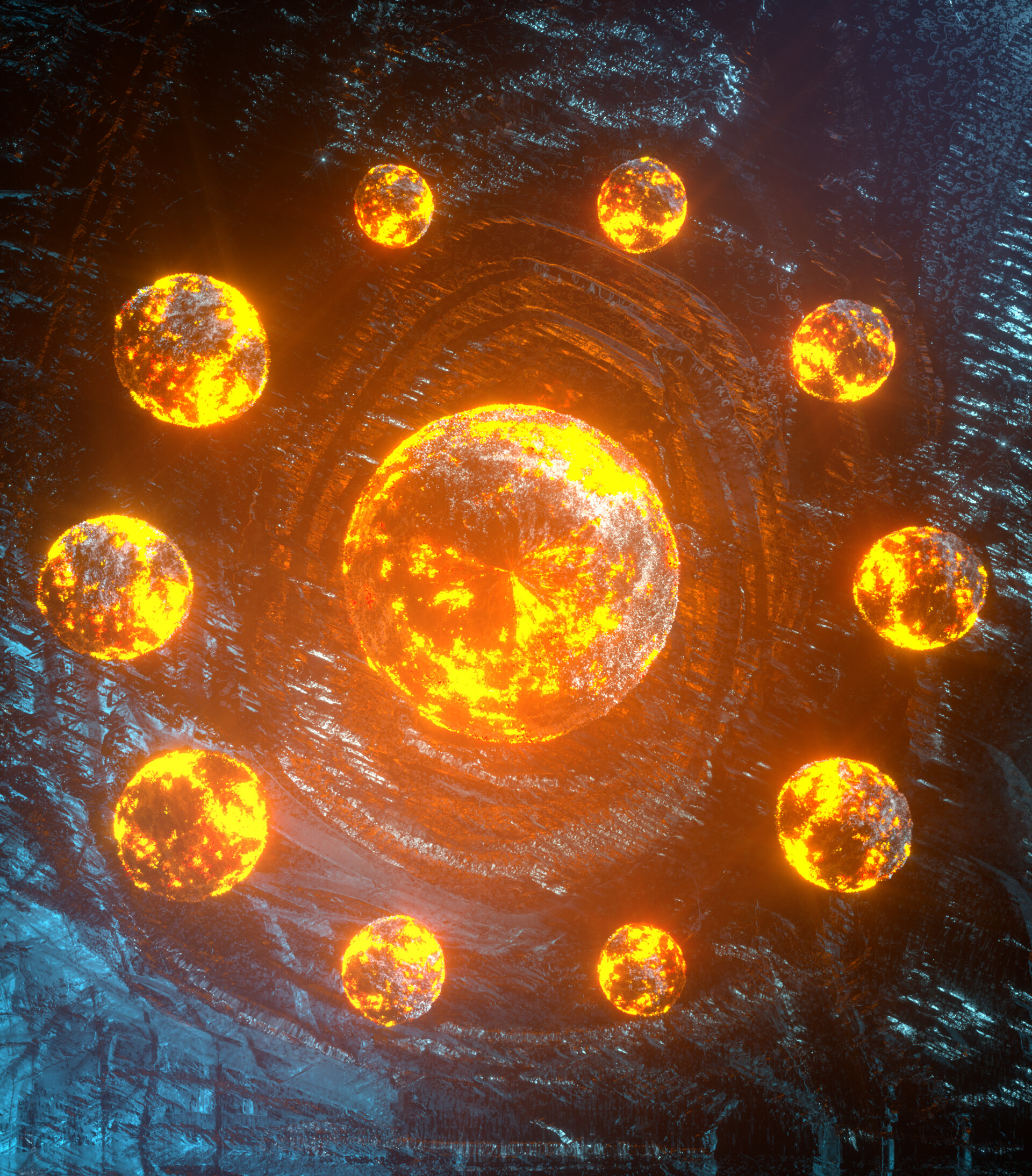 123703 download wallpaper Balls, Spheres, Sphere, Glow, Bright, 3D screensavers and pictures for free