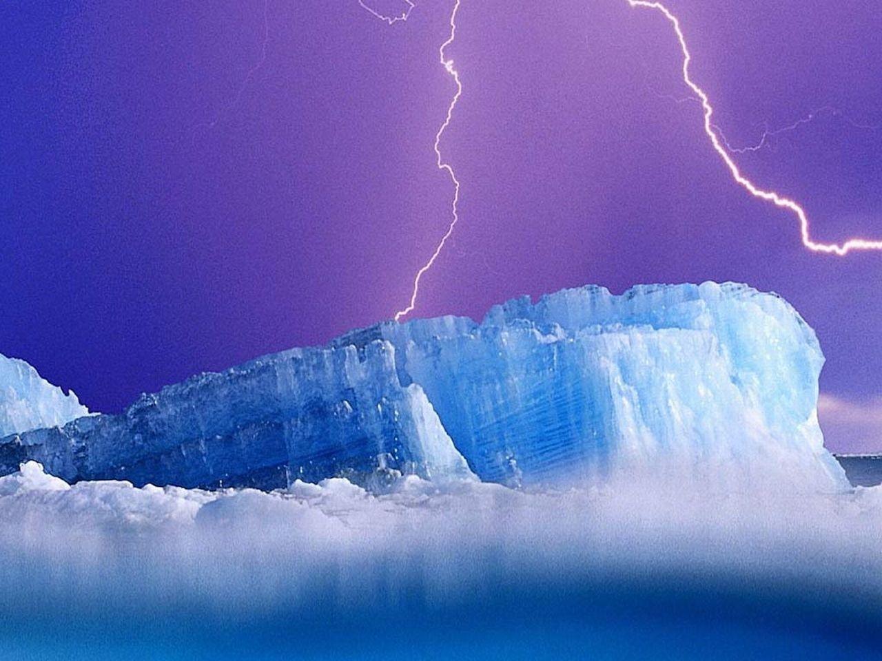 9237 скачать обои Пейзаж, Молнии, Снег, Антарктида, Арктика - заставки и картинки бесплатно