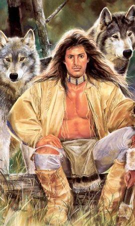 14246 baixar papel de parede Animais, Pessoas, Lobos, Homens, Imagens - protetores de tela e imagens gratuitamente