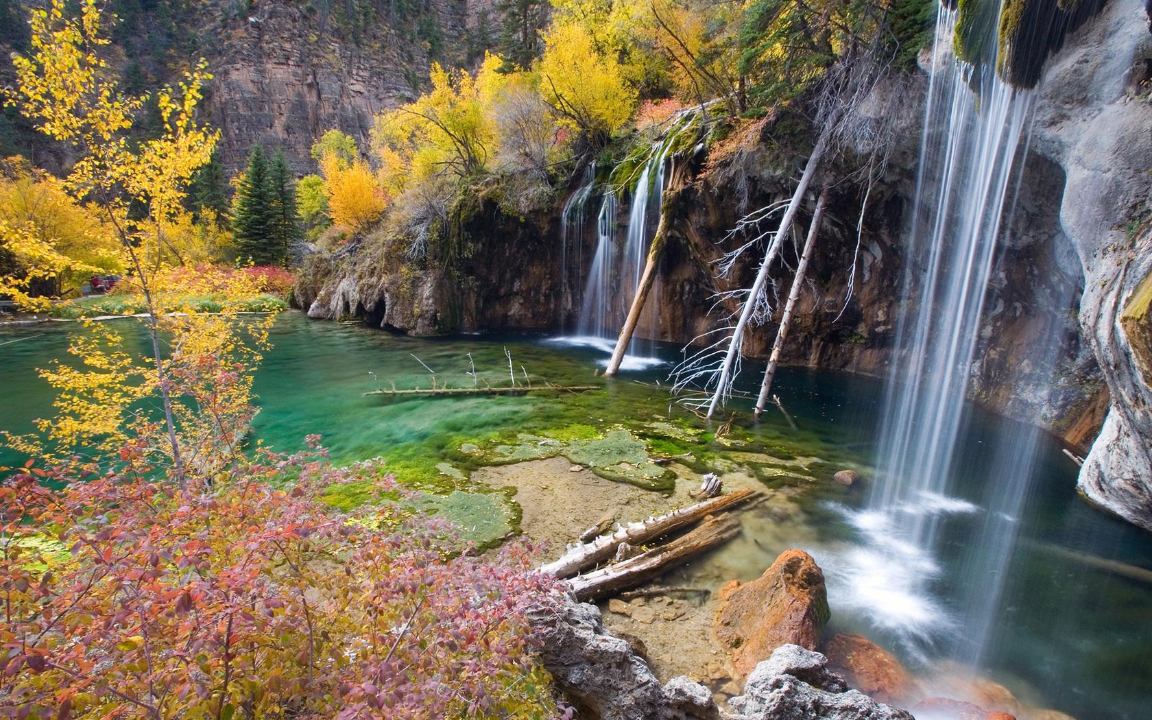 38151 скачать обои Пейзаж, Река, Осень, Водопады - заставки и картинки бесплатно